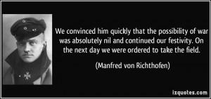 Baron Manfred Von Richthofen Quotes