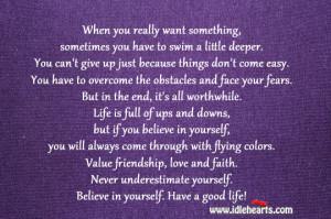 Value Friendship Love Faith