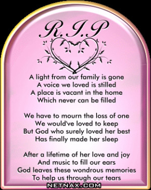 Image detail for -Rest In Peace RIP Graphics - Poems For Mom or ...