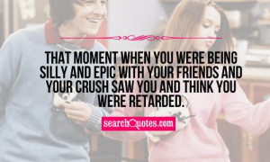 That moment when you were being silly and epic with your friends and ...