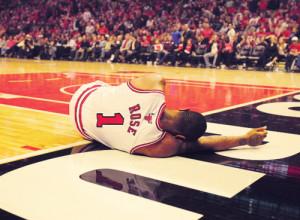Derrick Rose Bulls NBA Basketball chicago sad rose season torn ...