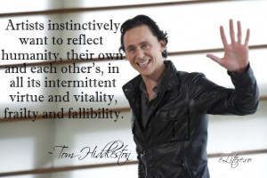 TOM HIDDLESTON QUOTES SHAKESPEARE