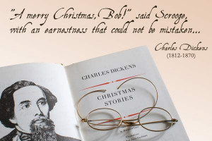 Charles Dickens Scrooge Quote from A Christmas Carol with book and ...