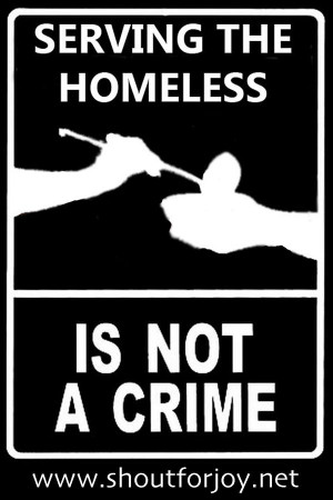 "Serving the Homeless is Not a Crime"" magnets"