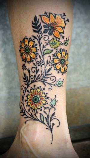 flower tattoo…….OMG I love this!