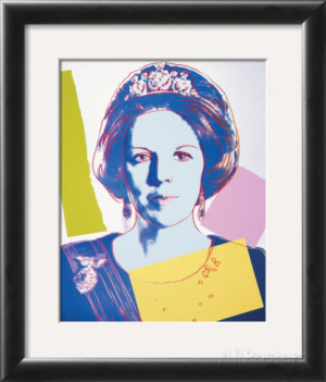 Reigning Queens: Queen Beatrix of the Netherlands, c.1985 Framed Art ...