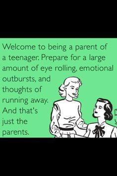 Raising Teenagers Quotes | Joy of having teenagers...wouldn't change ...