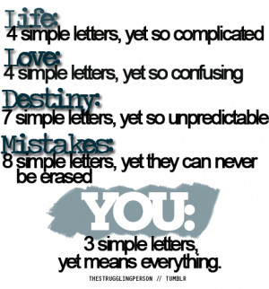 You – 3 simple letters yet means everything