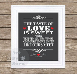 The taste of love is sweet- Johnny Cash personalized love quote Subway ...