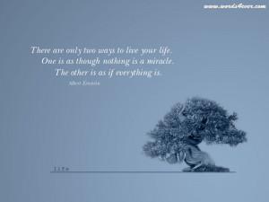 ... 800x600 Trees, Quotes, Bonsai, Miracle, Albert, Einstein, Life