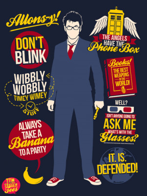Top quotes from the 10th Doctor, Allons-y!AVAILABLE AS A TEE AThttp ...