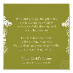 Adoption Poem print