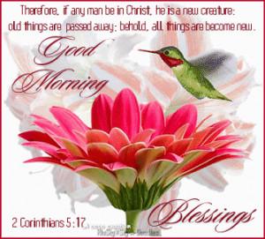 Good Morning Blessings religious quote god flowers birds prayer christ ...
