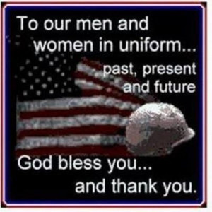 To the men and women in uniform flag patriotic holiday memorial day ...