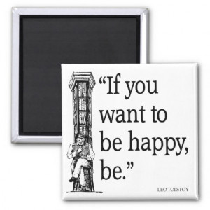 Leo Tolstoy Quote - Happiness - Quotes Refrigerator Magnets