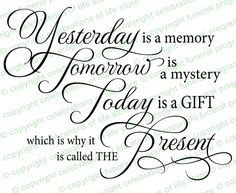Funeral Quotes : Yesterday Is A Memory Funeral Quote Elegant Title ...