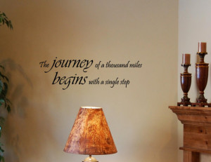 Vinyl wall words quotes and sayings The journey of a thousand miles ...