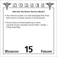 nurses jokes quotes and anecdotes 2012 day to day calendar from