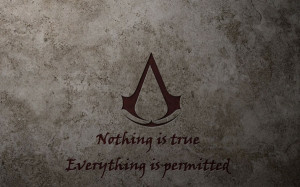 assassins creed quotes logos 1440x900 wallpaper Knowledge Quotes HD