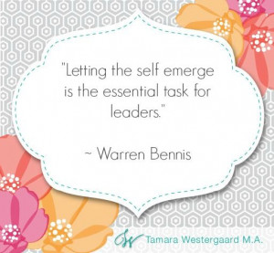 Warren Bennis inpirational leadership quote: