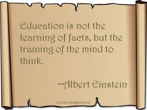 Albert Einstein quote on education