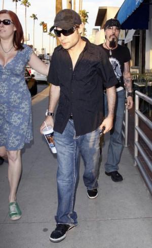 Corey Feldman Actor Corey Feldman seen leaving T-Man Tattoo parlor ...