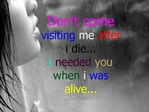 Let me die alone