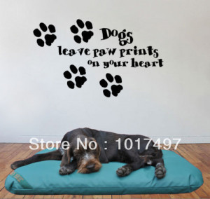 Free shipping Ebay hot dogs leave paw prints on your heart Decorative ...