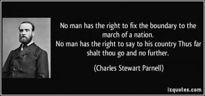 No man shall have the right to fix the boundary to the march of a ...