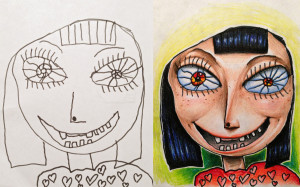 Tattoo Artist Colored In His 4-Year-Old Daughter's Line Drawing. The ...