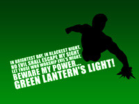 Quotes: Green Lantern Oath