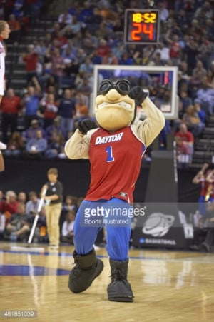 News Photo : NCAA Playoffs Dayton Flyers mascot Rudy Flyer on...