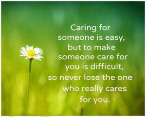 Caring For Some One Is Easy' Beautiful Picture