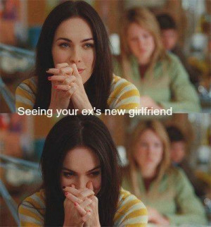 Seeing your ex's new girlfriend