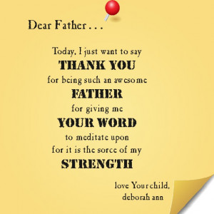 Christian Father's Day Poems