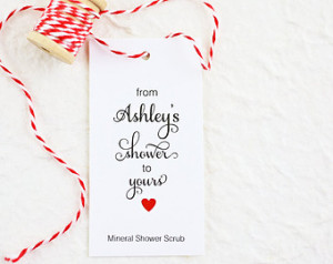 Bridal Shower Favor Tags, Personali zed Favor Tags, Shower Gift Tags ...
