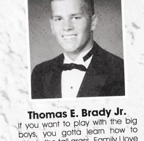 tom brady senior picture with senior quote