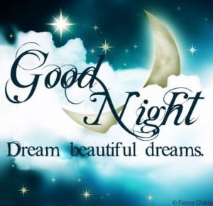 Good Night Dream Beautiful Dreams