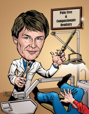 50th birthday gift dentist caricature poster the above caricature was ...