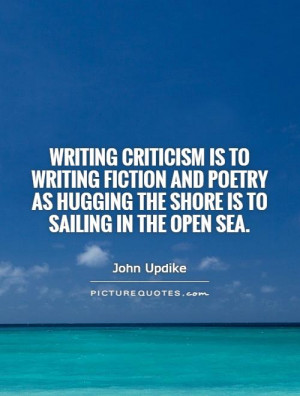 ... as hugging the shore is to sailing in the open sea Picture Quote #1