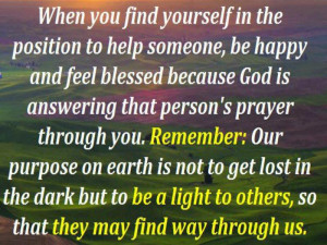 Being a light to others inspirational quote