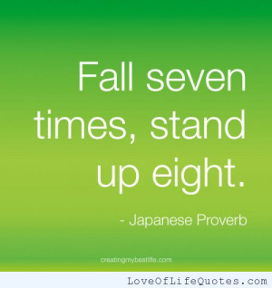 Japanese Proverb on determination