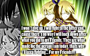Fairy Tail Lucy Quotes