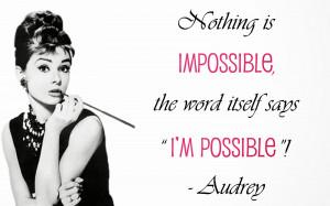 Audrey Hepburn Quote Wallpaper Desktop wallpaper