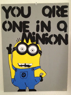 Despicable Me minion! Funny canvas painting perfect for boyfriend ...