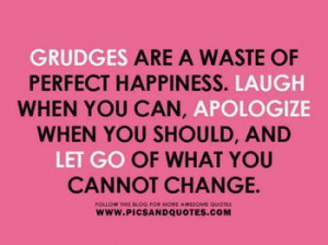 Do you hold grudges ?