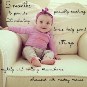 seriously cannot believe she is already 5 months old .