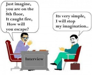Funny interview cartoon