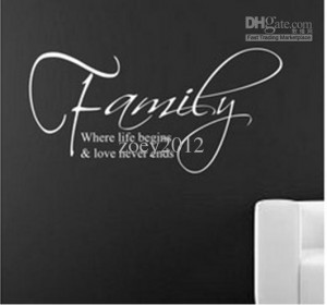 Amazon HOT Family English Quote/Vinyl Wall Decals :30*60cm Removable ...