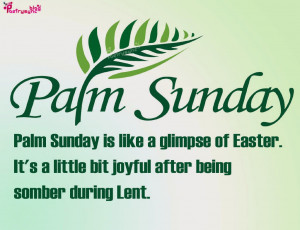 Palm Sunday Quotes and Sayings with Images